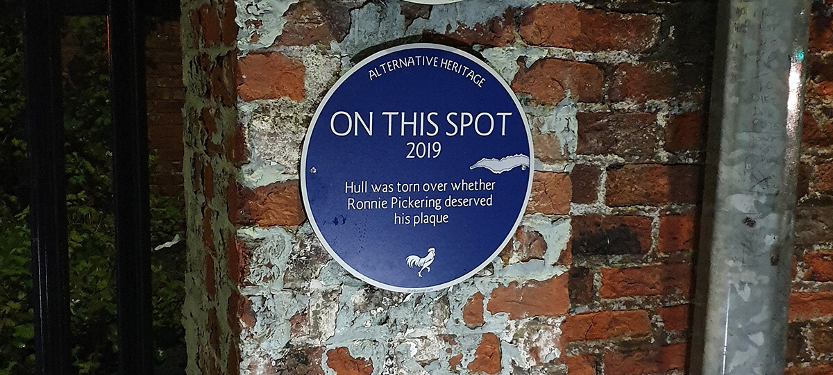 Alternative Heritage Plaques – Ronnie Pickering