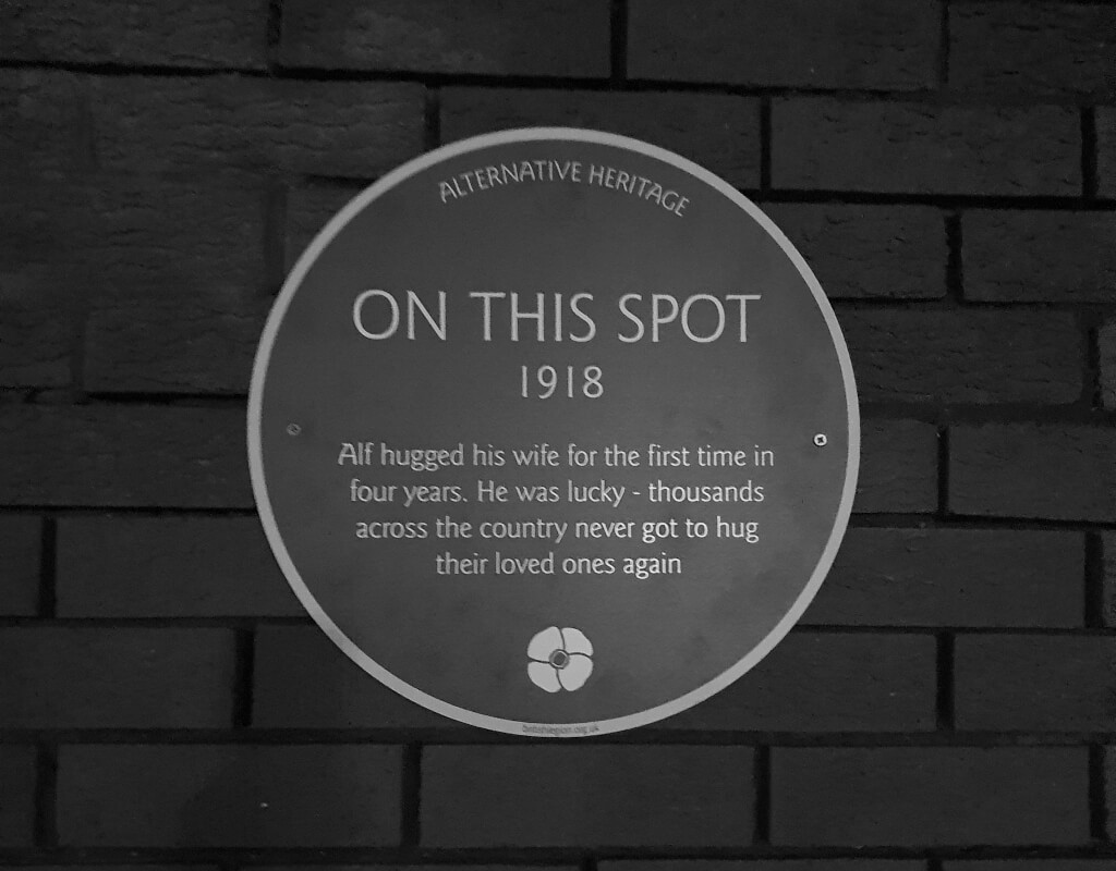 Honouring those fallen with our 'Alternative Heritage' plaques