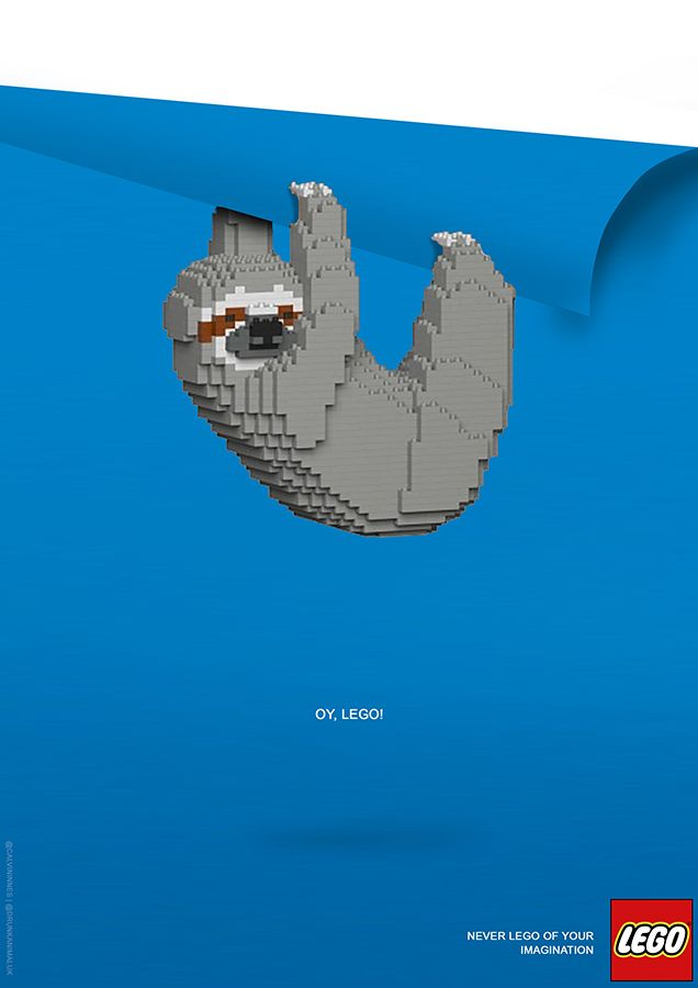 Lego Sloth Advertisement