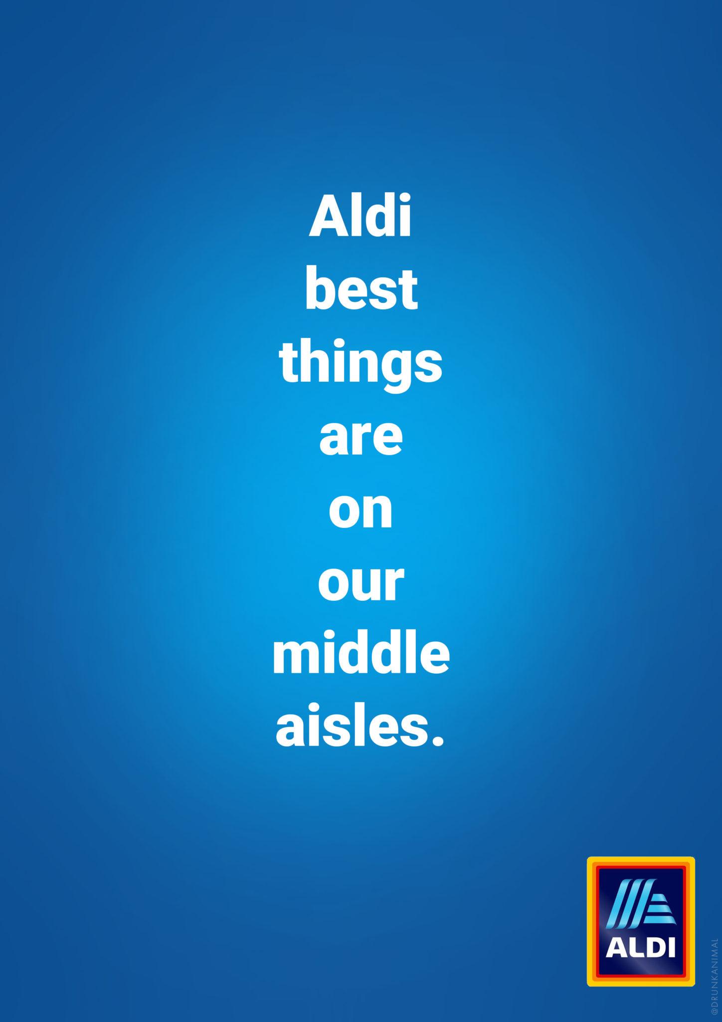 Aldi middle aisle advert