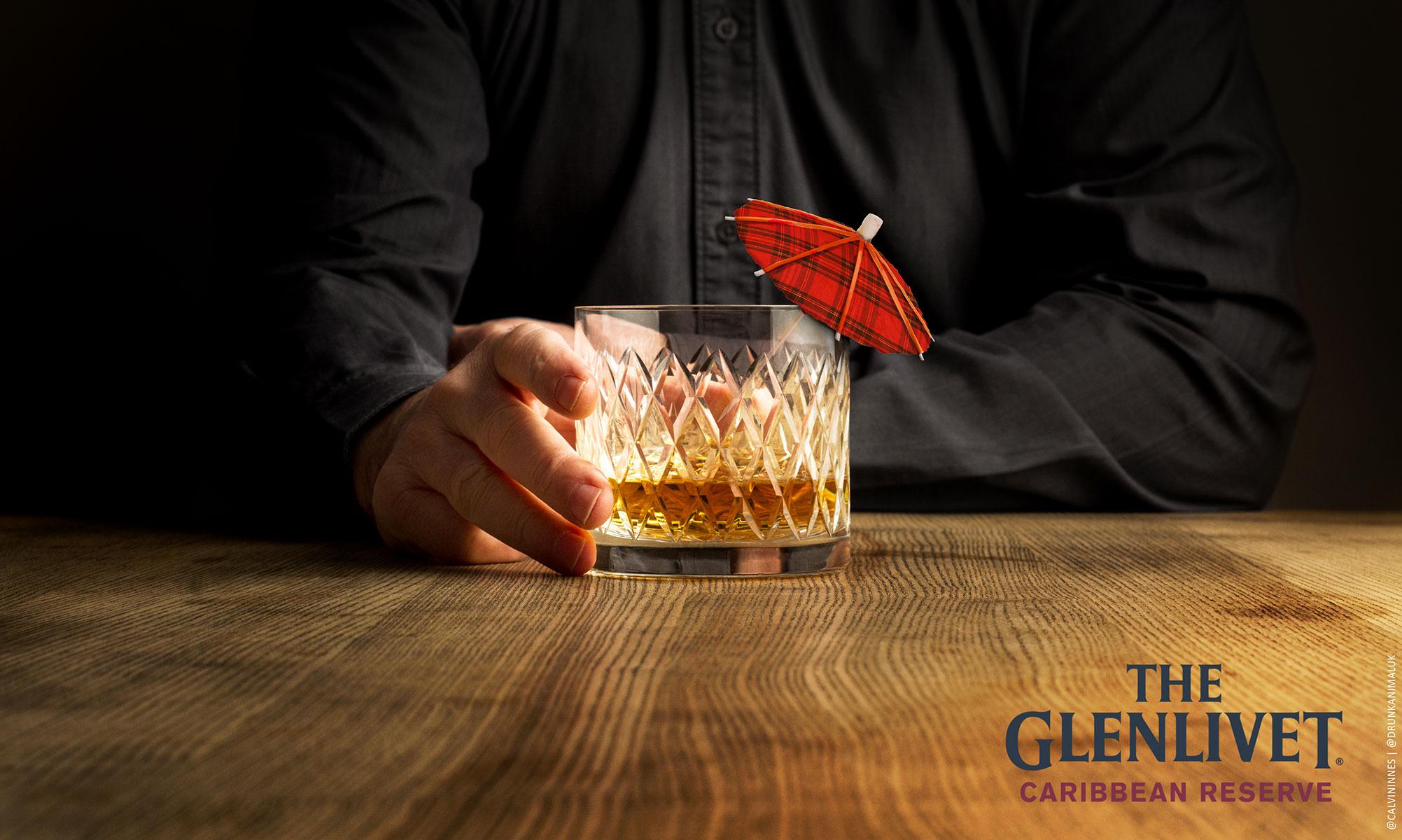 Glenlivet Caribbean cask whiskey advert