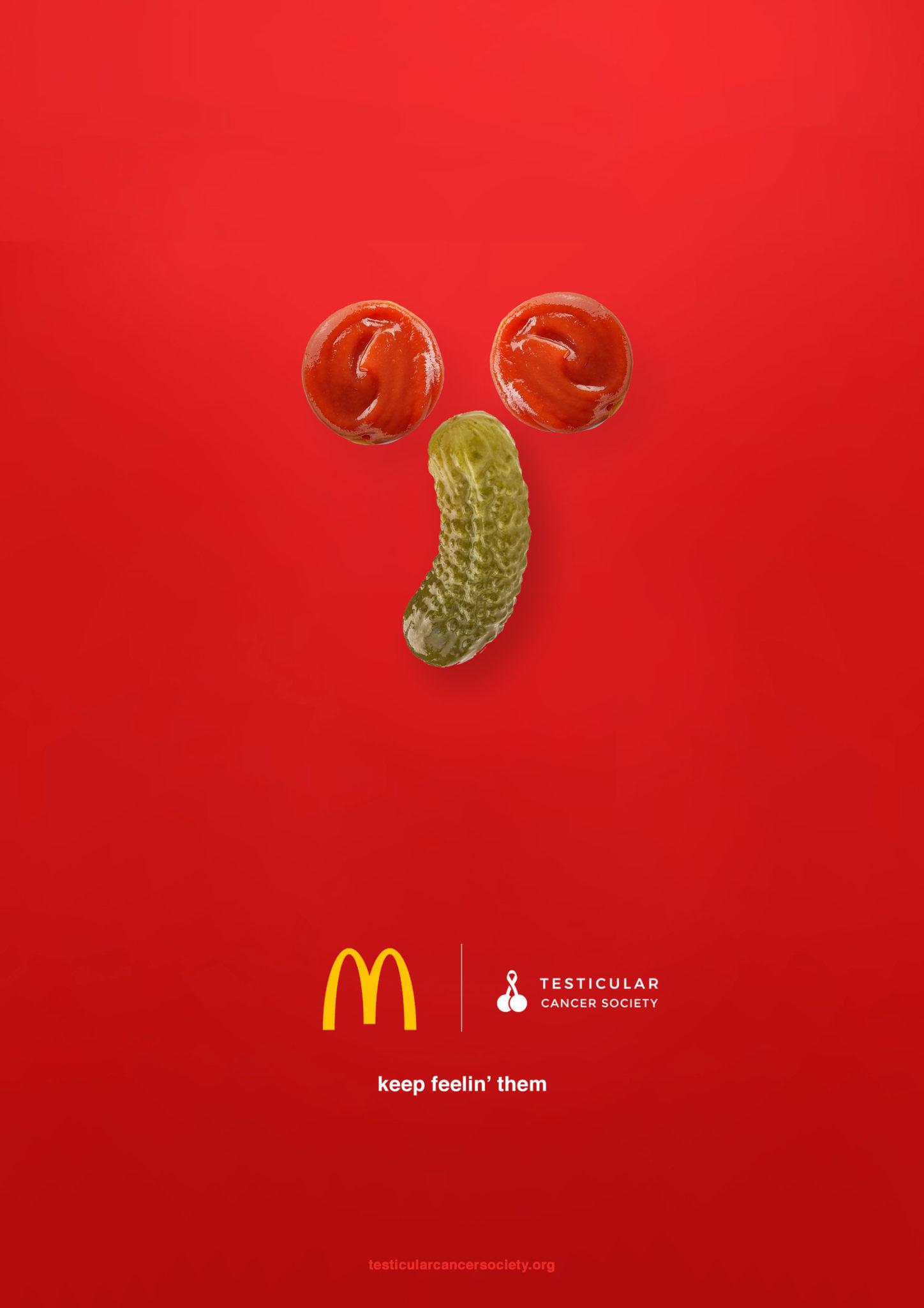 Mcdonalds Poster - testicular Cancer awareness